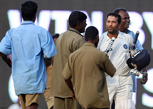 Sachin winning chennai test 2008