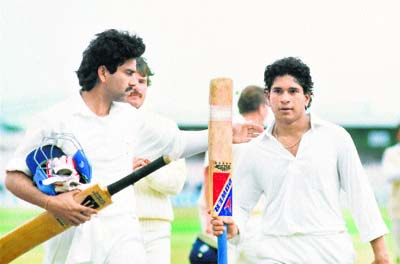 Sachin - First test hundred